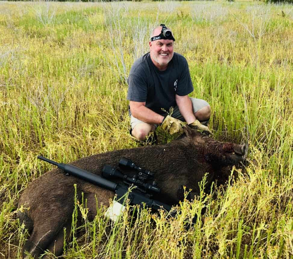 Client with a Wild Hog
