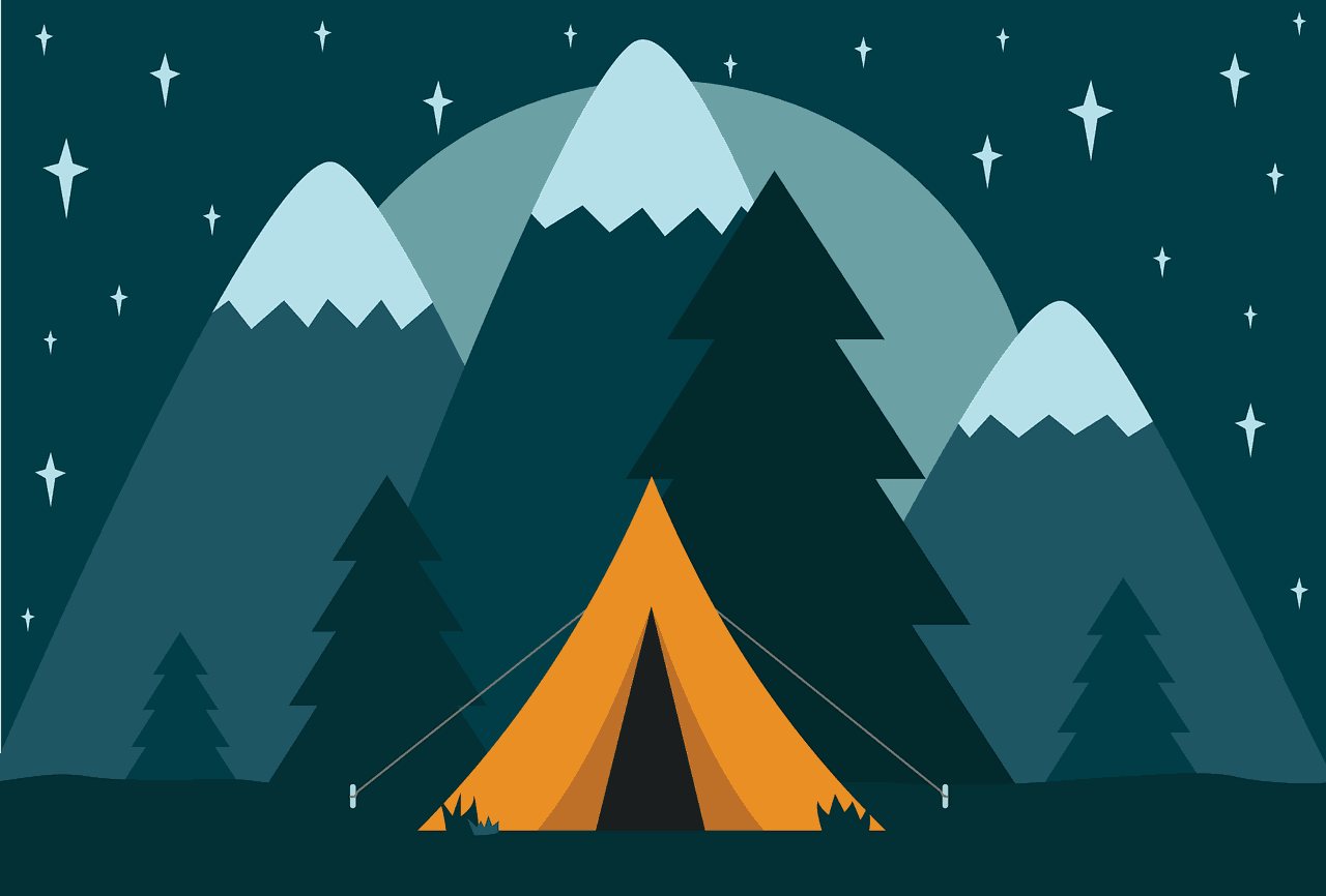 camp, camping, tent