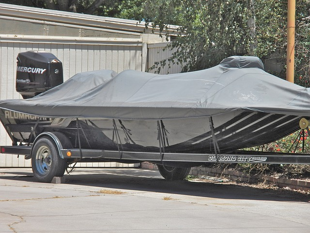 Bass Boat on Trailer